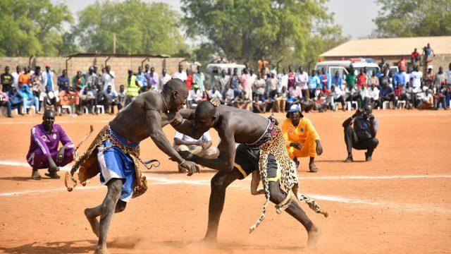 JICA_南スーダン_レスリング