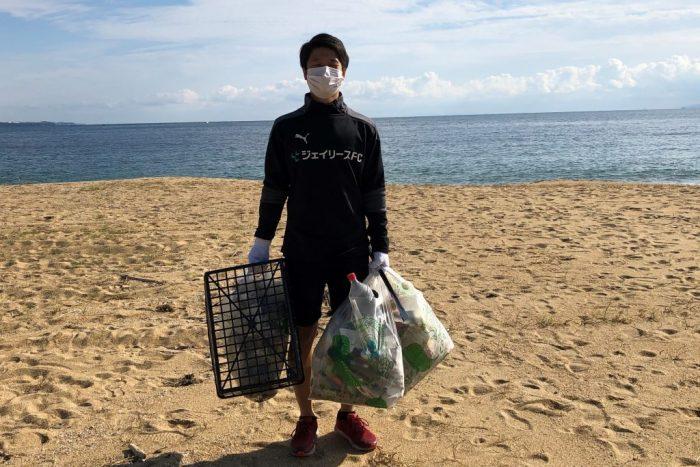 ジェイリース_海岸清掃