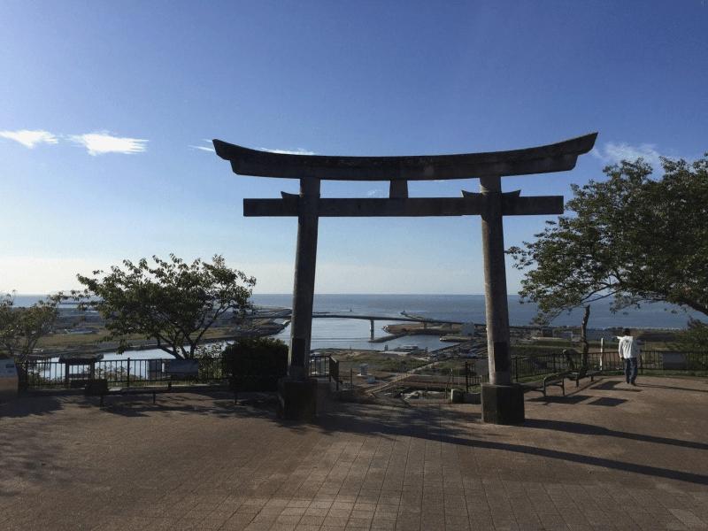 日和山公園の鳥居