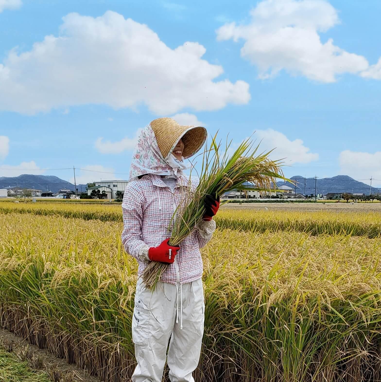 五賀晶子さん 農作業風景